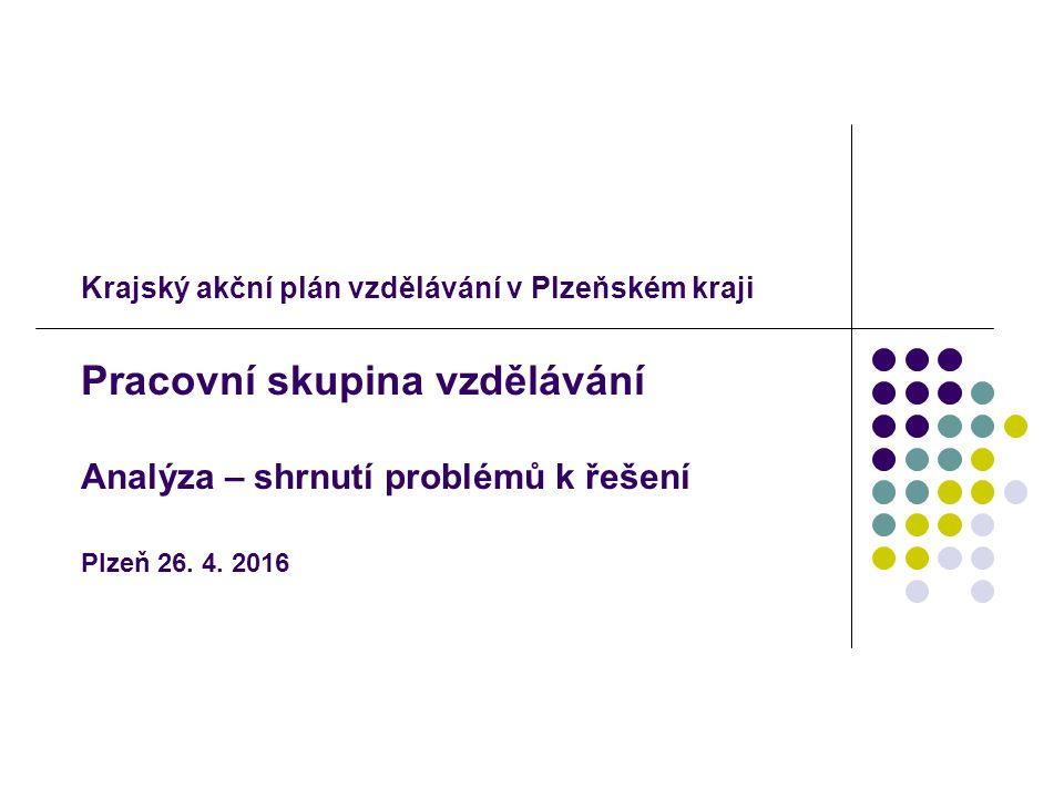 Krajský akční plán vzdělávání v Plzeňském kraji Pracovní skupina vzdělávání Analýza – shrnutí problémů k řešení Plzeň 26.