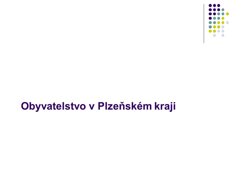 Obyvatelstvo v Plzeňském kraji
