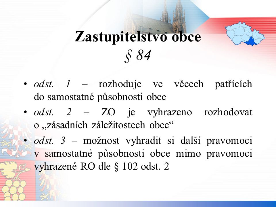 Zastupitelstvo obce § 84 odst.