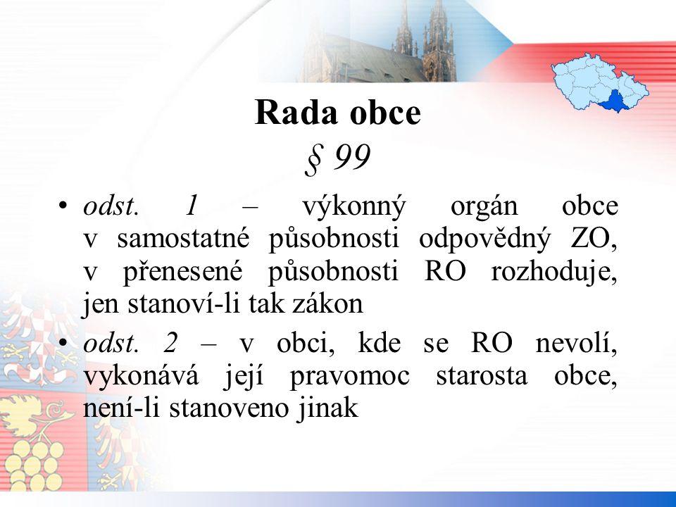 Rada obce § 99 odst.