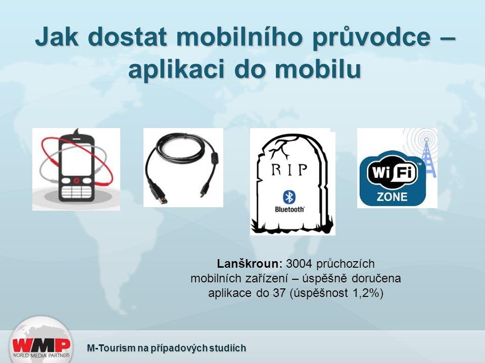 Jak dostat mobilního průvodce – aplikaci do mobilu M-Tourism na případových studiích Lanškroun: 3004 průchozích mobilních zařízení – úspěšně doručena aplikace do 37 (úspěšnost 1,2%)