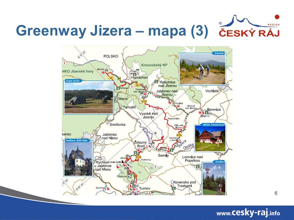 7 Greenway Jizera Vize projektu Na principech partnerské spolupráce a trvale udržitelného rozvoje území vytvořit plně vybavený multifunkční koridor podél řeky Jizery s páteřní cyklostezkou a sítí bezpečných stezek pro bezmotorovou dopravu, využívaný jak místními obyvateli, tak návštěvníky.