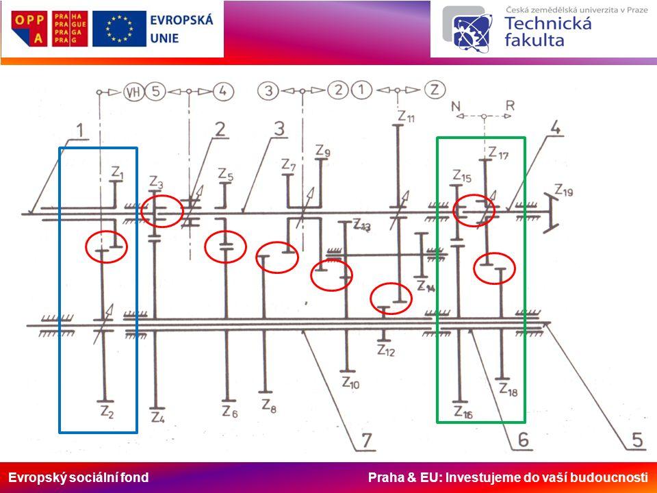 Evropský sociální fond Praha & EU: Investujeme do vaší budoucnosti Mechanické stupňové převodovky Schéma převodovky UŘ 1