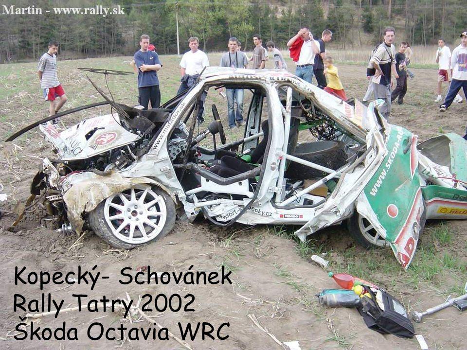 Kopecký- Schovánek Rally Tatry 2002 Škoda Octavia WRC