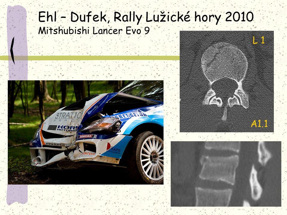 Ehl – Dufek, Rally Lužické hory 2010 Mitshubishi Lancer Evo 9 A1.1 L 1