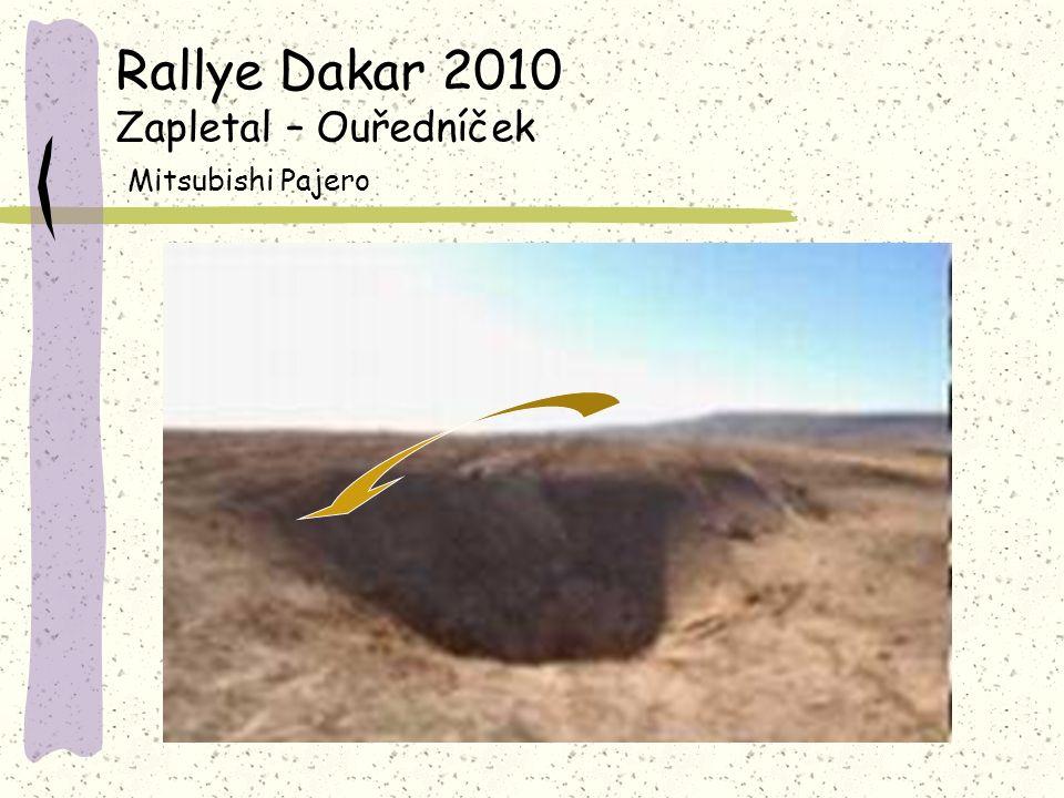 Rallye Dakar 2010 Zapletal – Ouředníček Mitsubishi Pajero