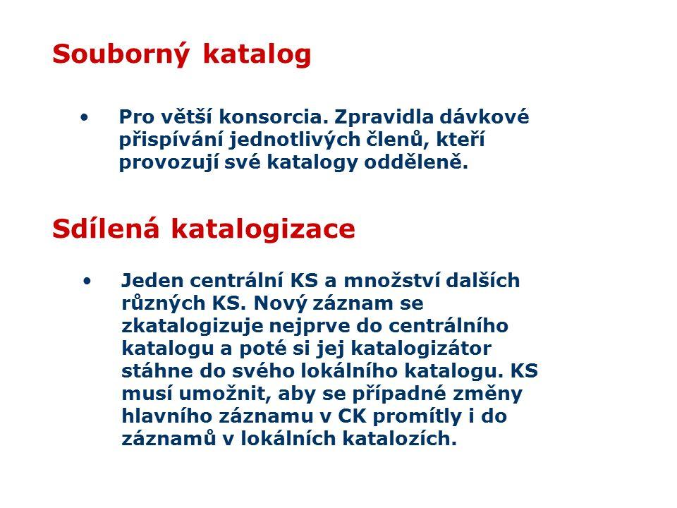 Souborný katalog Pro větší konsorcia.