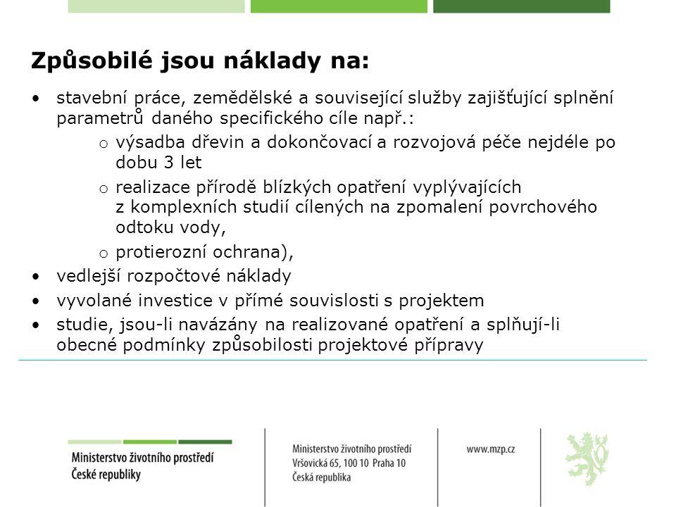 Program Podpora obnovy přirozených funkcí krajiny - POPFK Podprogram 115 165 - Adaptační opatření pro zmírnění dopadů klimatické změny na nelesní ekosystémy Opatření 4.1 tvorba a obnova ekostabilizačních prvků v krajině