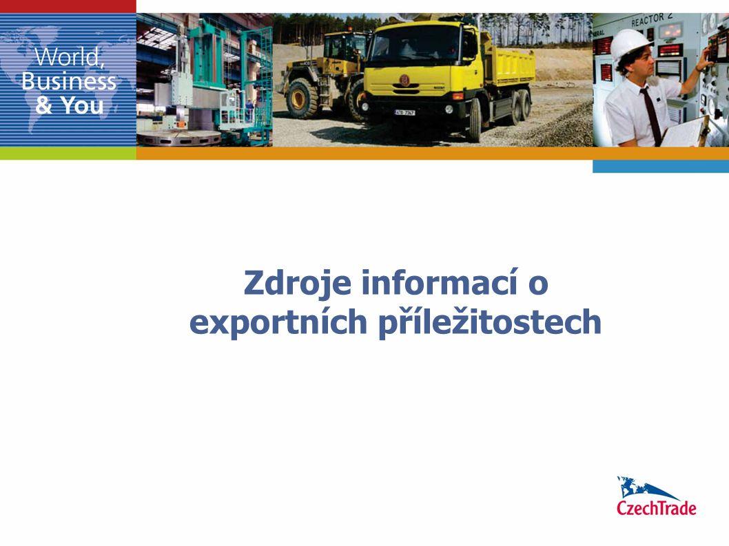 Zdroje informací o exportních příležitostech