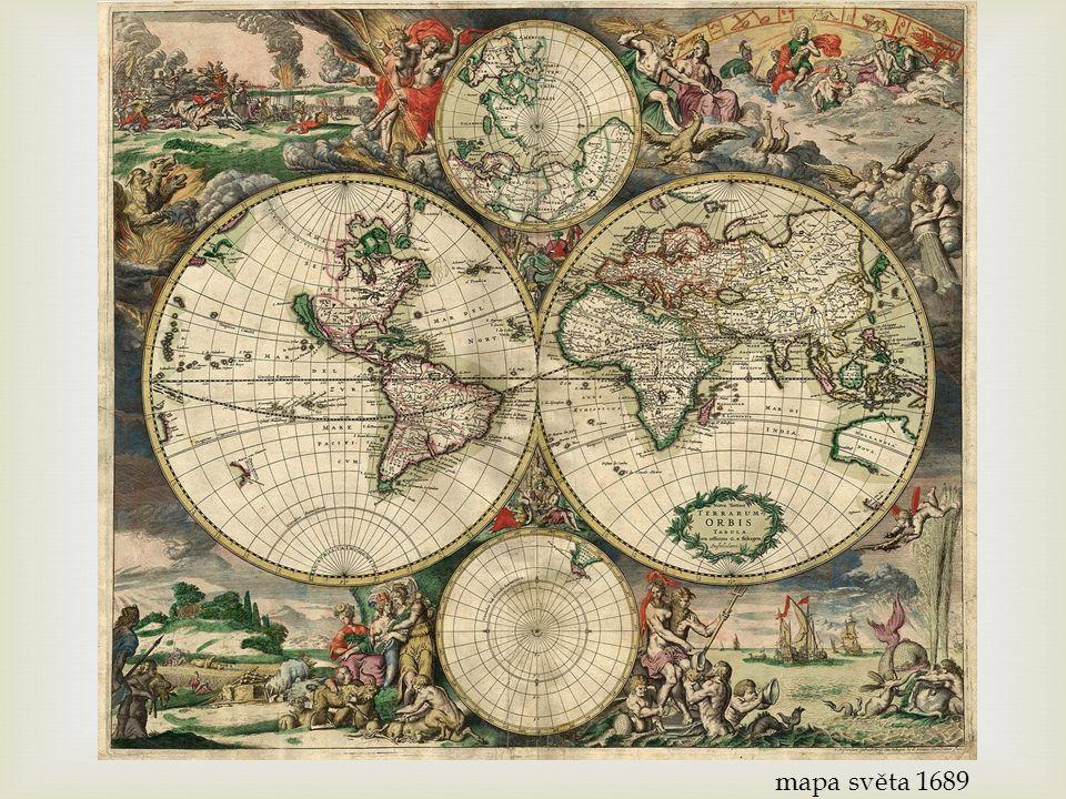 mapa světa 1689