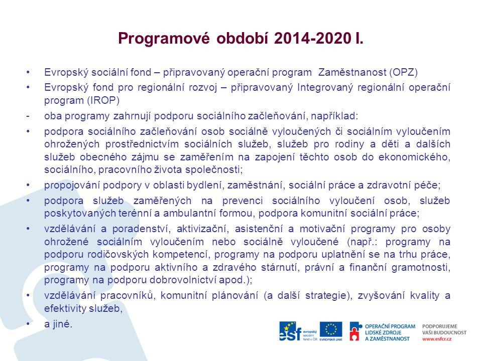 Programové období 2014-2020 I.