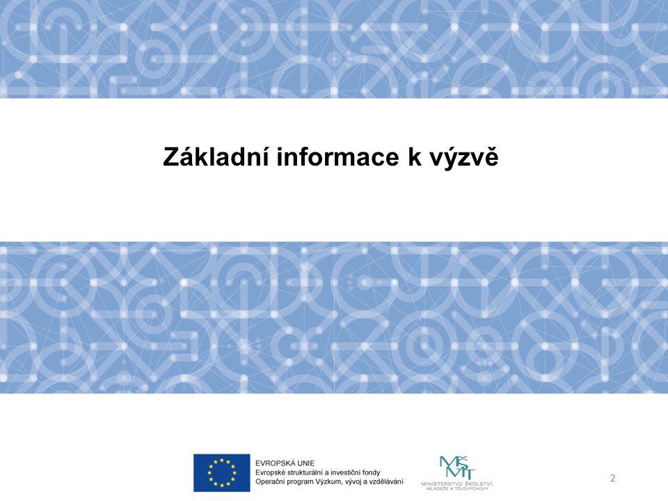 Základní informace k výzvě 2