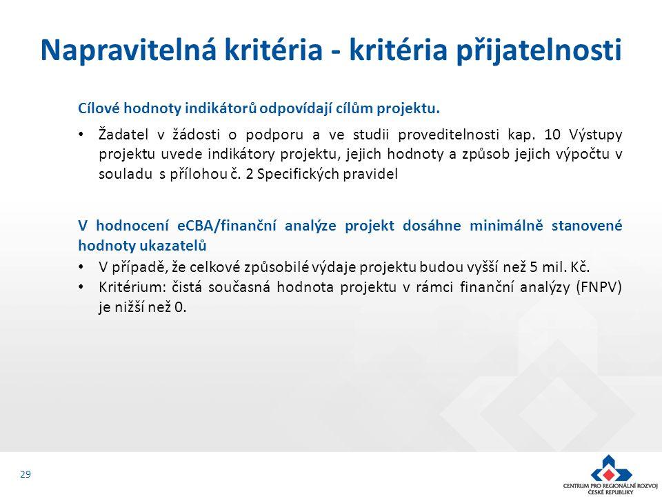 Cílové hodnoty indikátorů odpovídají cílům projektu.