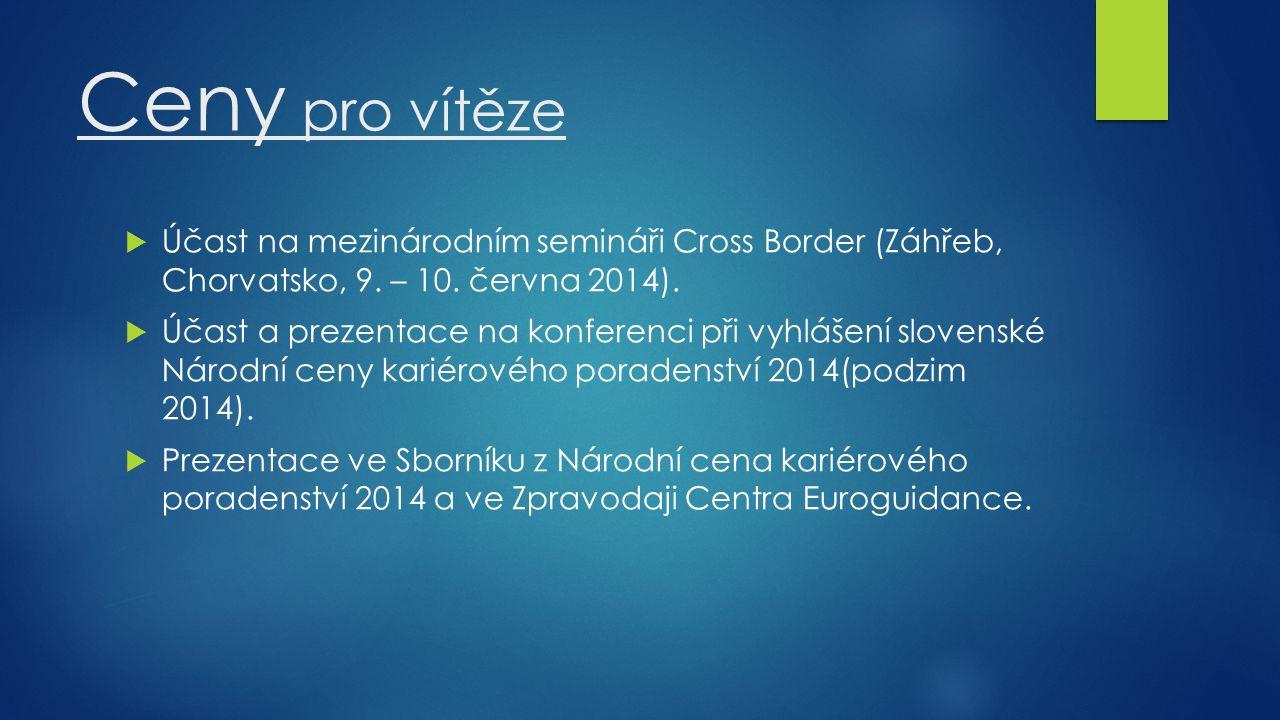 Ceny pro vítěze  Účast na mezinárodním semináři Cross Border (Záhřeb, Chorvatsko, 9.