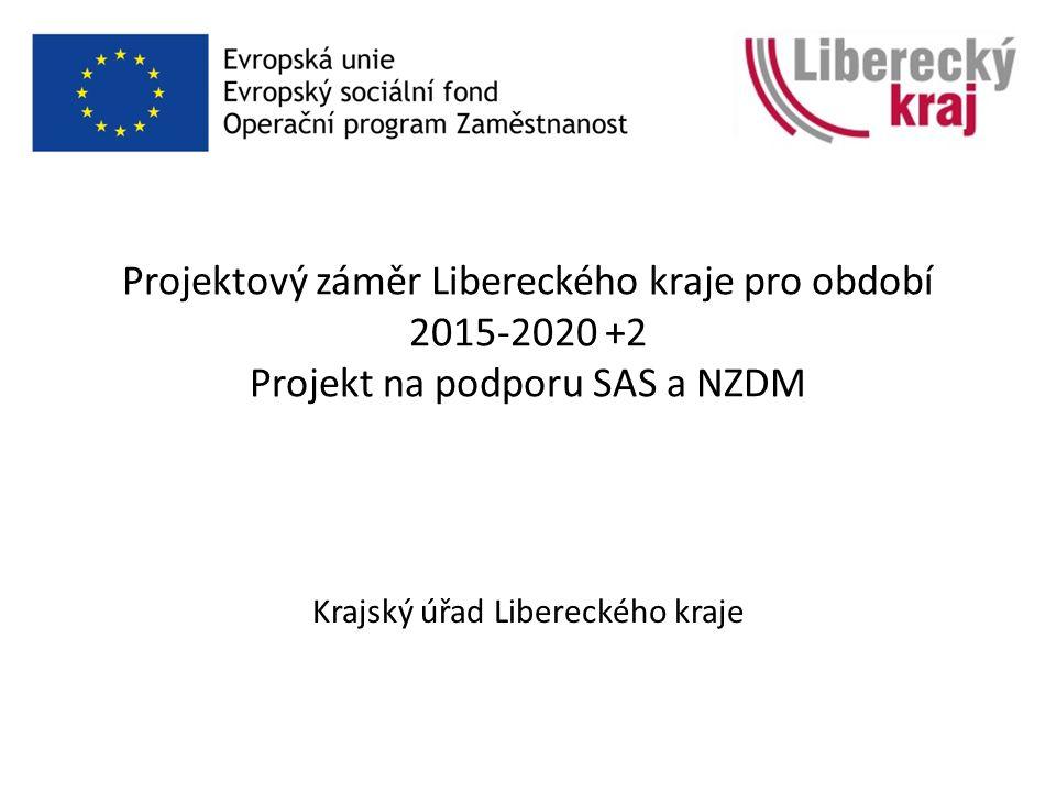 Projektový záměr Libereckého kraje pro období 2015-2020 +2 Projekt na podporu SAS a NZDM Krajský úřad Libereckého kraje