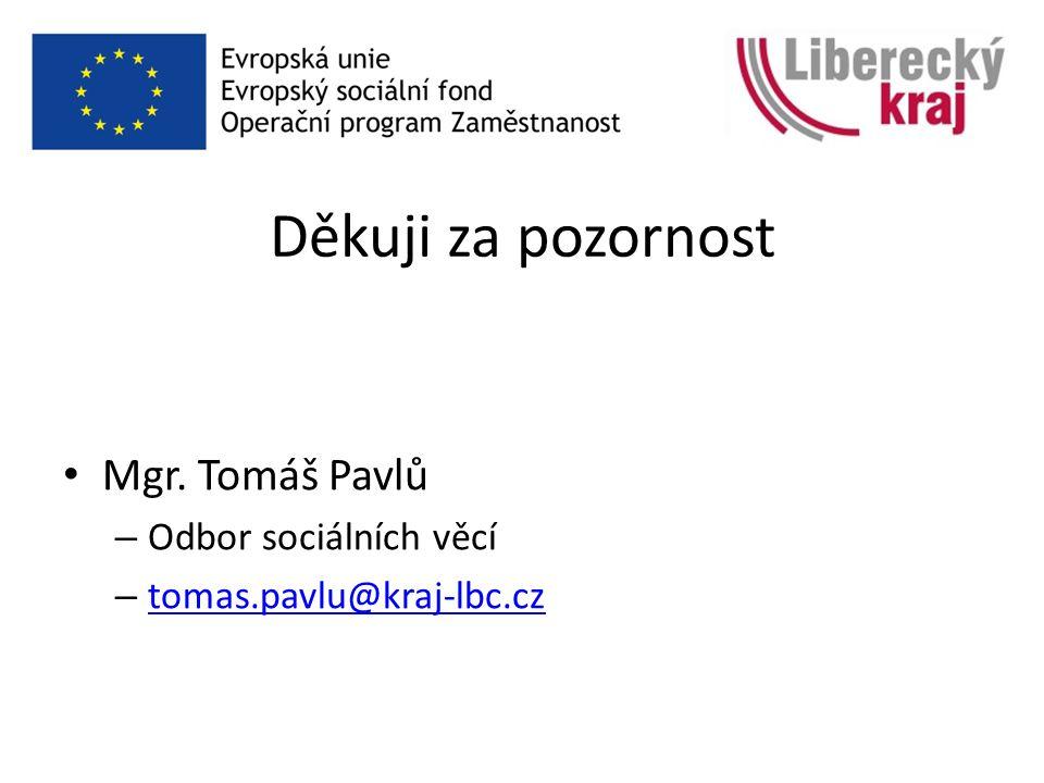 Děkuji za pozornost Mgr. Tomáš Pavlů – Odbor sociálních věcí – tomas.pavlu@kraj-lbc.cz tomas.pavlu@kraj-lbc.cz