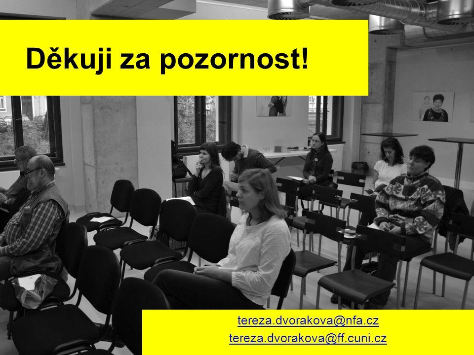 Děkuji za pozornost! tereza.dvorakova@nfa.cz tereza.dvorakova@ff.cuni.cz
