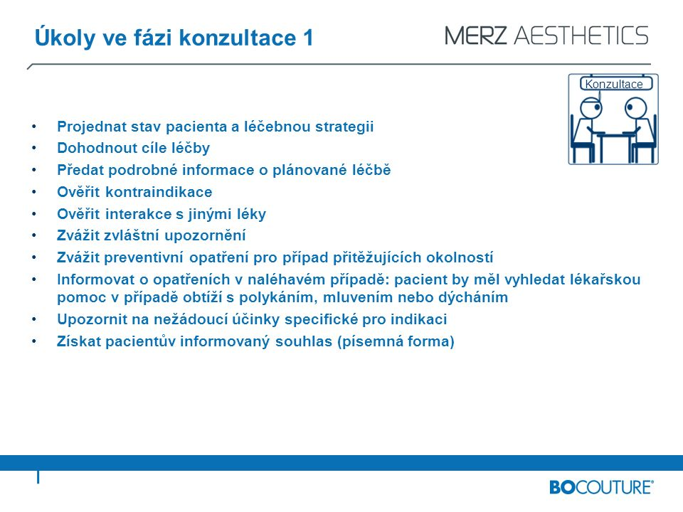 Právní informace Číslo verze: 1.2 (Datum: únor 2011) Informace o autorských právech: Cílem tohoto vzdělávacího dokumentu je informovat lékaře o bezpečném podávání přípravku BOCOUTURE ® a o možných rizicích.