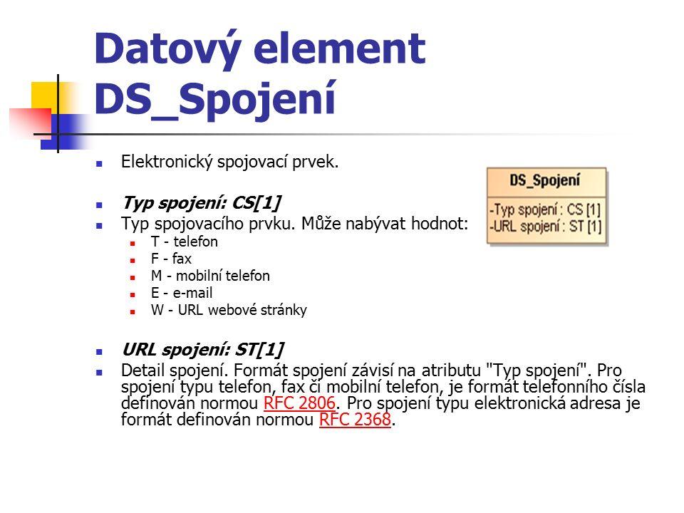 Datový element DS_Spojení Elektronický spojovací prvek.