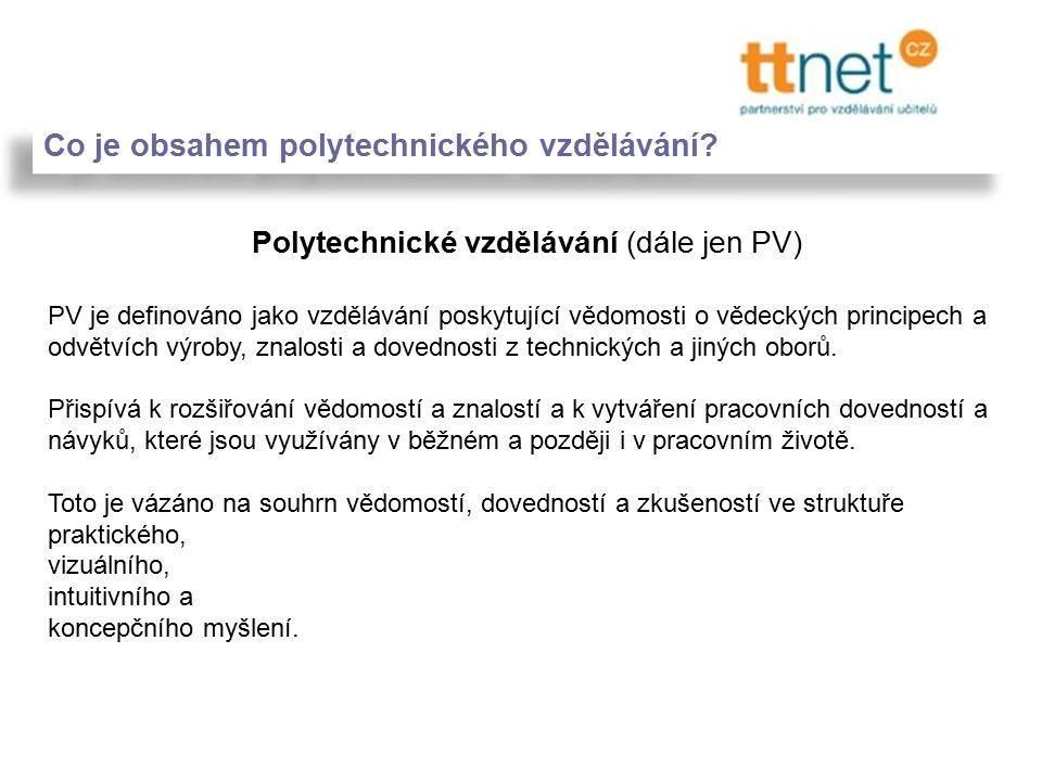 Co je obsahem polytechnického vzdělávání.