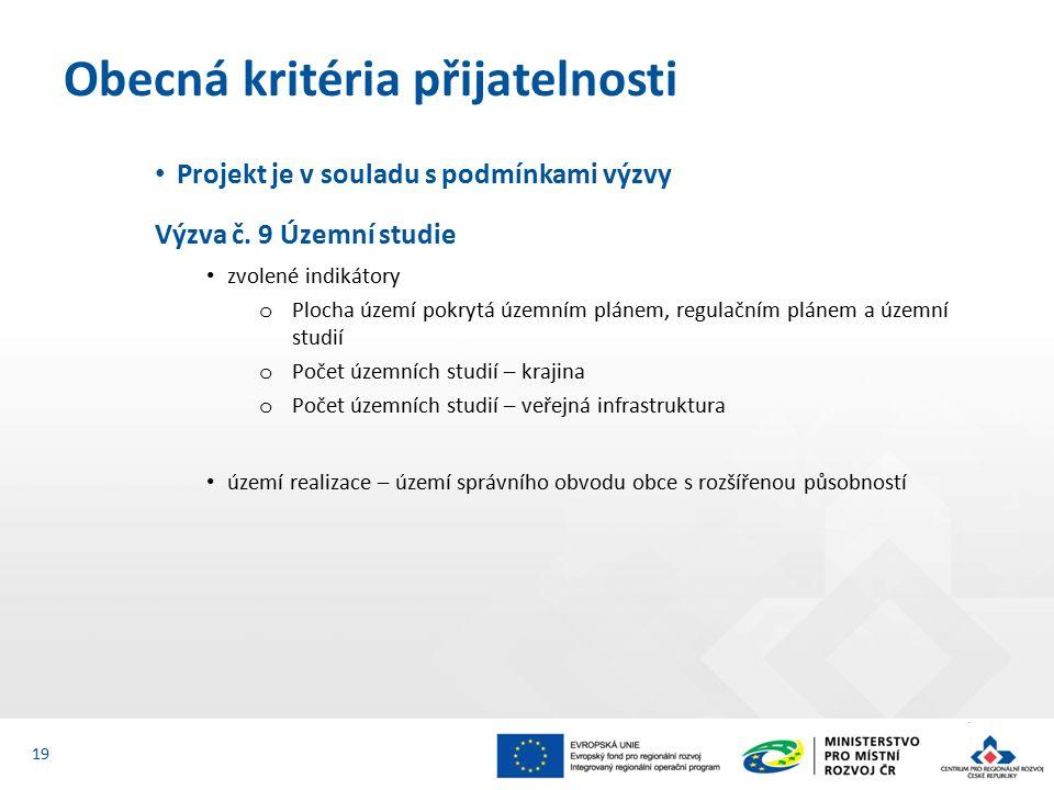 Projekt je v souladu s podmínkami výzvy Výzva č.