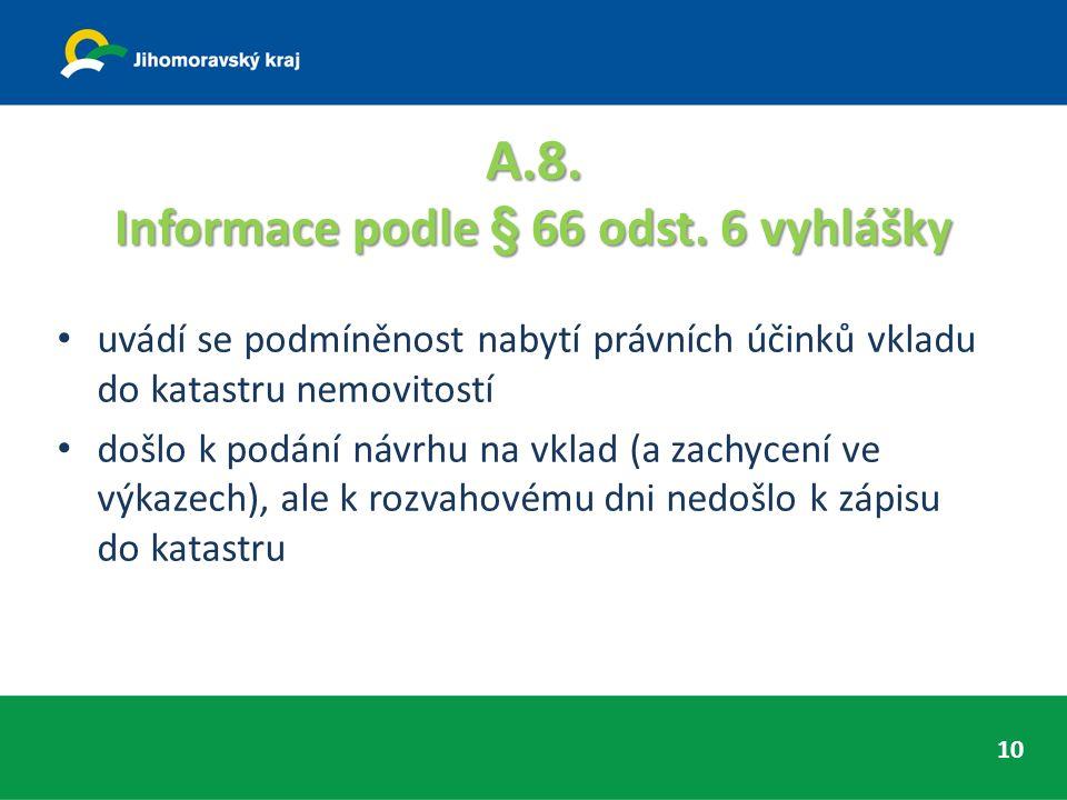 A.8. Informace podle § 66 odst.