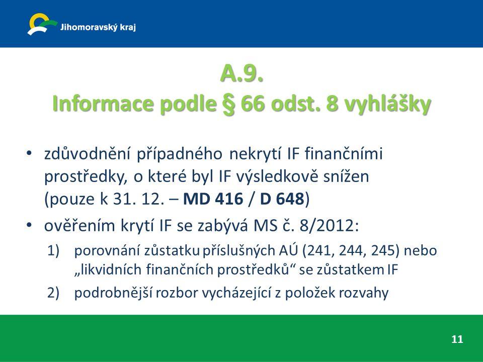 A.9. Informace podle § 66 odst.