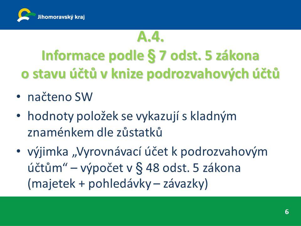 A.5.Informace podle § 18 odst. 1 písm. c) zákona načteno SW splatné závazky pojistného na soc.