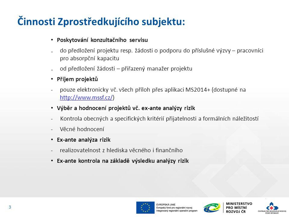 Poskytování konzultačního servisu ₋do předložení projektu resp. žádosti o podporu do příslušné výzvy – pracovníci pro absorpční kapacitu ₋od předložen