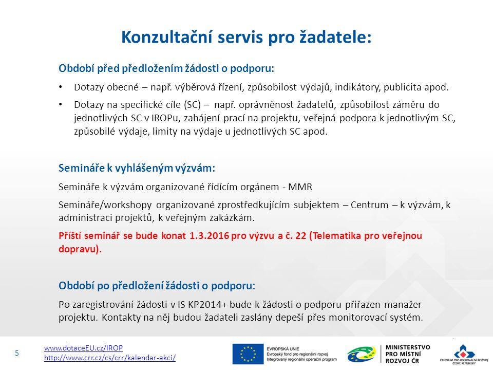 http://www.dotaceeu.cz/cs/Microsites/IROP/Vyzvy Přehled vyhlášených výzev IROP v r. 2015 6