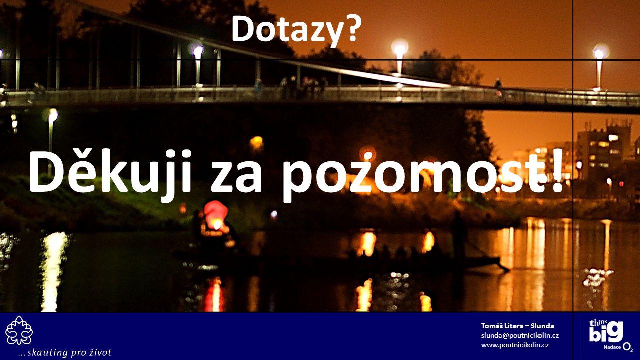 Děkuji za pozornost! Tomáš Litera – Slunda slunda@poutnicikolin.cz www.poutnicikolin.cz Dotazy?
