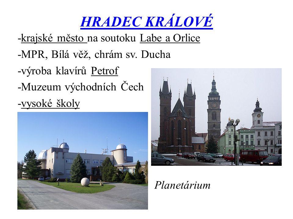 HRADEC KRÁLOVÉ -krajské město na soutoku Labe a Orlice -MPR, Bílá věž, chrám sv.