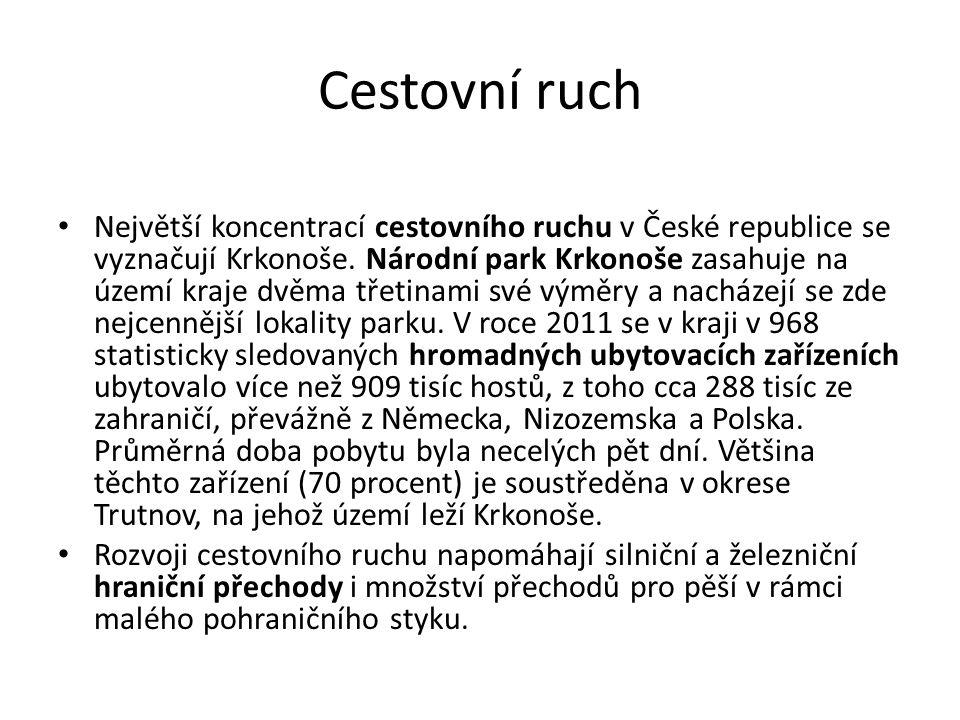 Cestovní ruch Největší koncentrací cestovního ruchu v České republice se vyznačují Krkonoše.