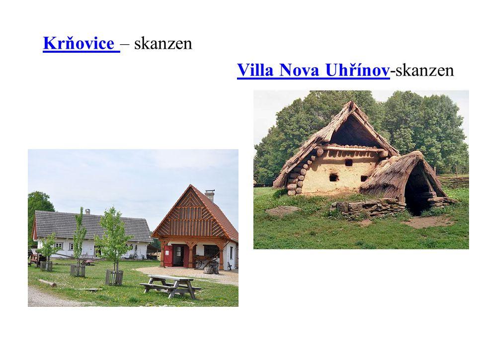 Krňovice – skanzenKrňovice Villa Nova Uhřínov-skanzenVilla Nova Uhřínov
