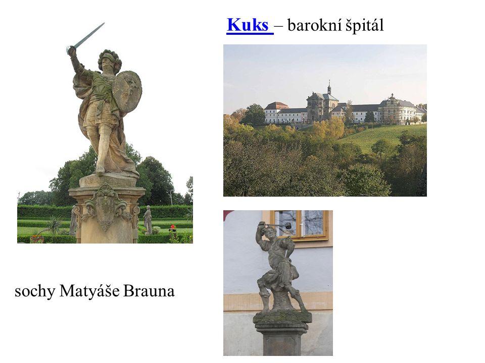 Kuks – barokní špitálKuks sochy Matyáše Brauna