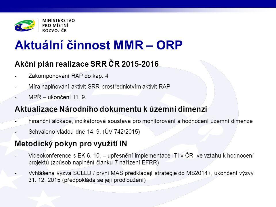 Akční plán realizace SRR ČR 2015-2016 -Zakomponování RAP do kap.