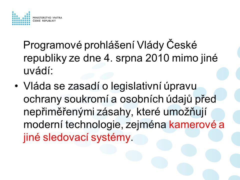 Programové prohlášení Vlády České republiky ze dne 4.