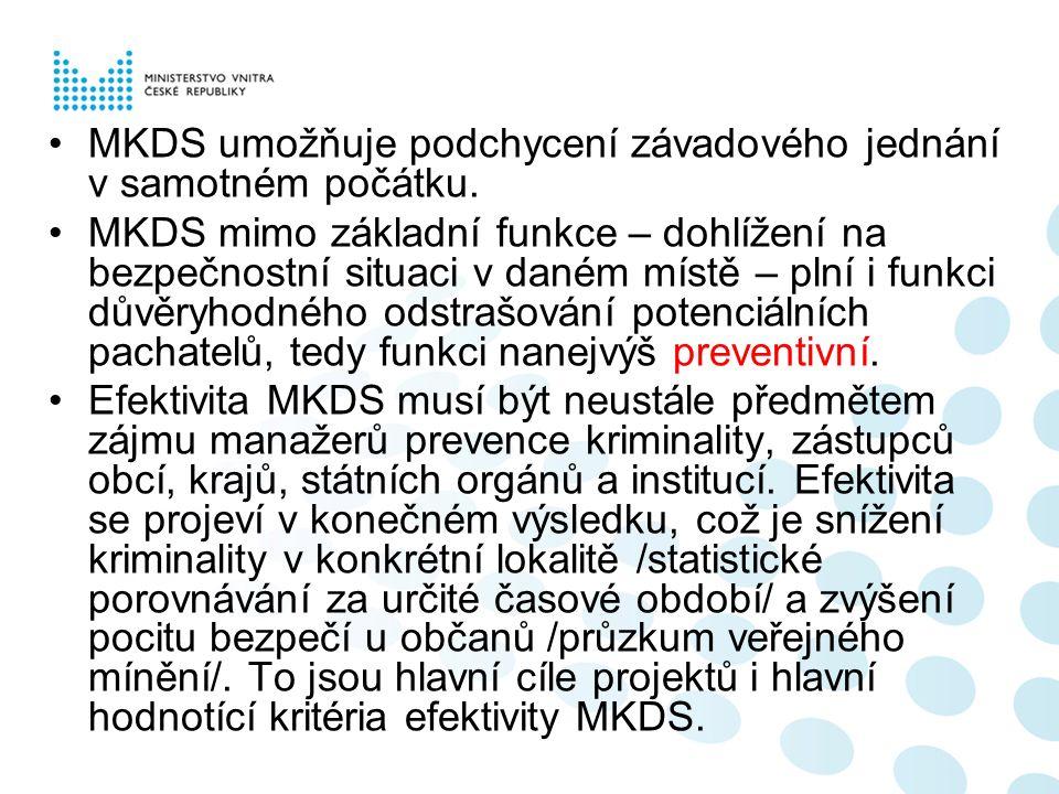MKDS umožňuje podchycení závadového jednání v samotném počátku.