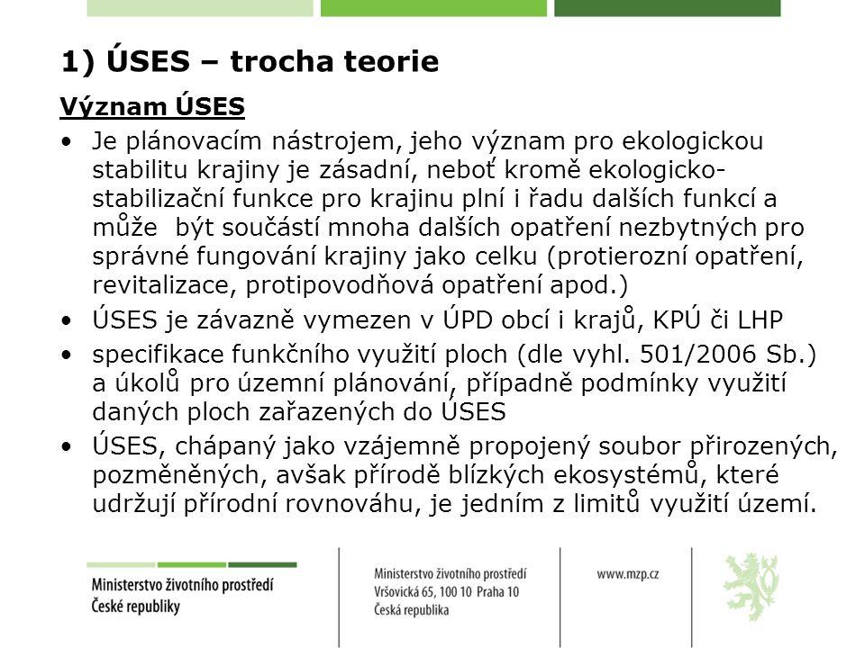 1) ÚSES – trocha teorie Význam ÚSES ÚSES je účinným nástrojem ochrany přírody a krajiny na všech úrovních od lokálních až po nadregionální.