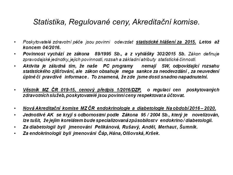 Statistika, Regulované ceny, Akreditační komise.