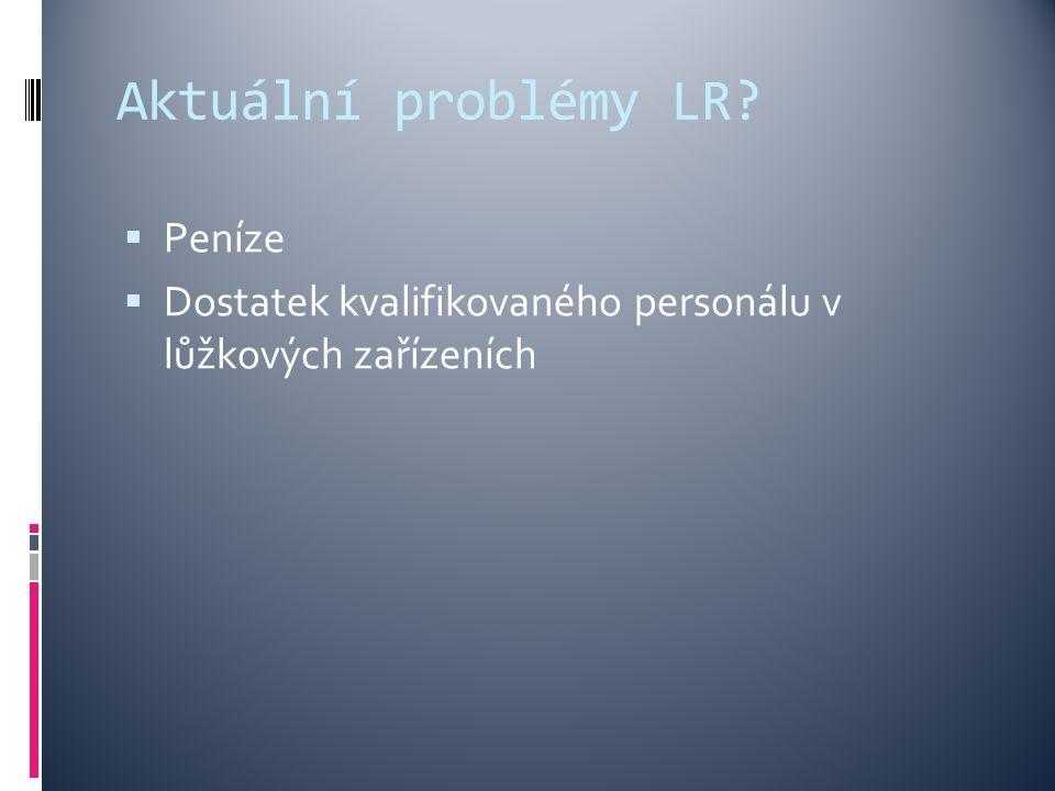 Aktuální problémy LR?  Peníze  Dostatek kvalifikovaného personálu v lůžkových zařízeních