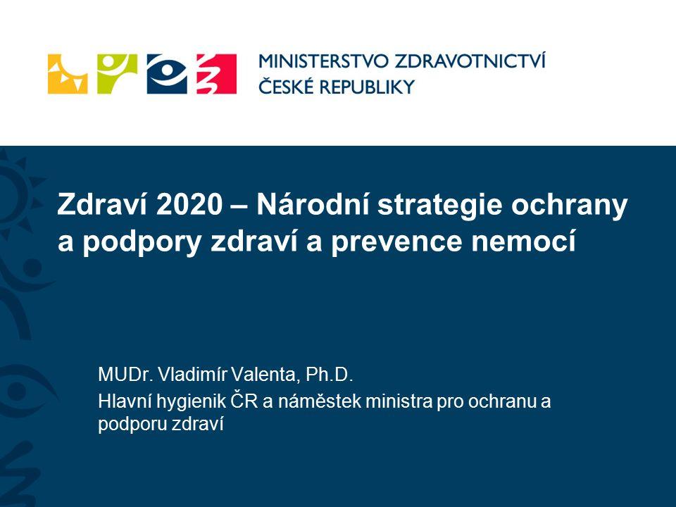 Zdraví 2020 – Národní strategie ochrany a podpory zdraví a prevence nemocí MUDr.