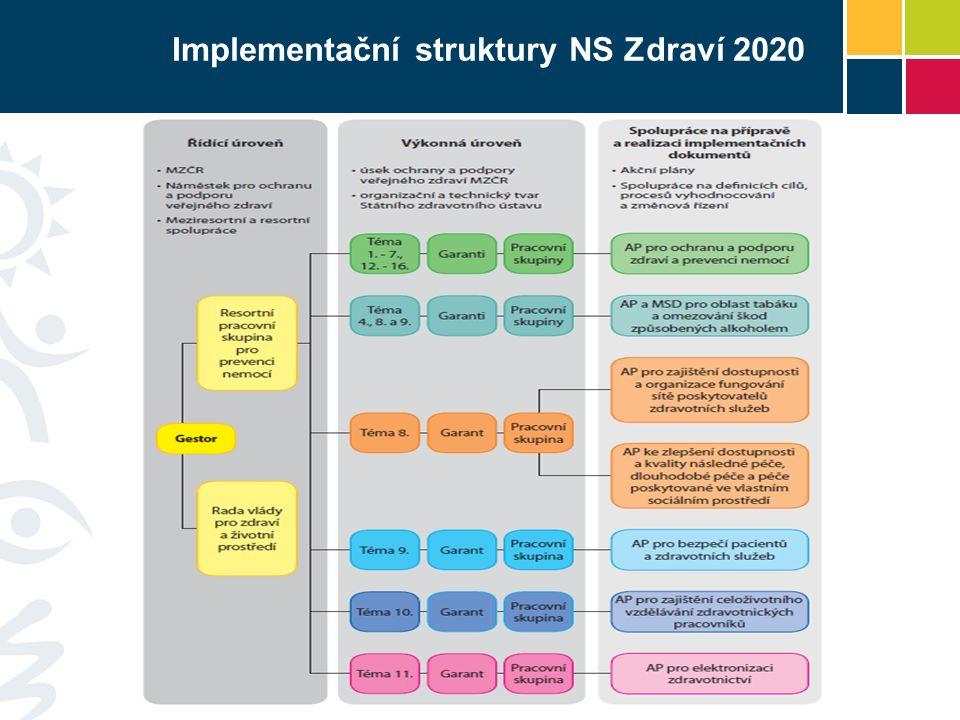 Implementační struktury NS Zdraví 2020