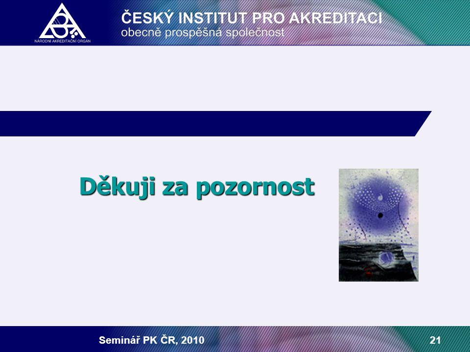 Seminář PK ČR, 201021 Děkuji za pozornost