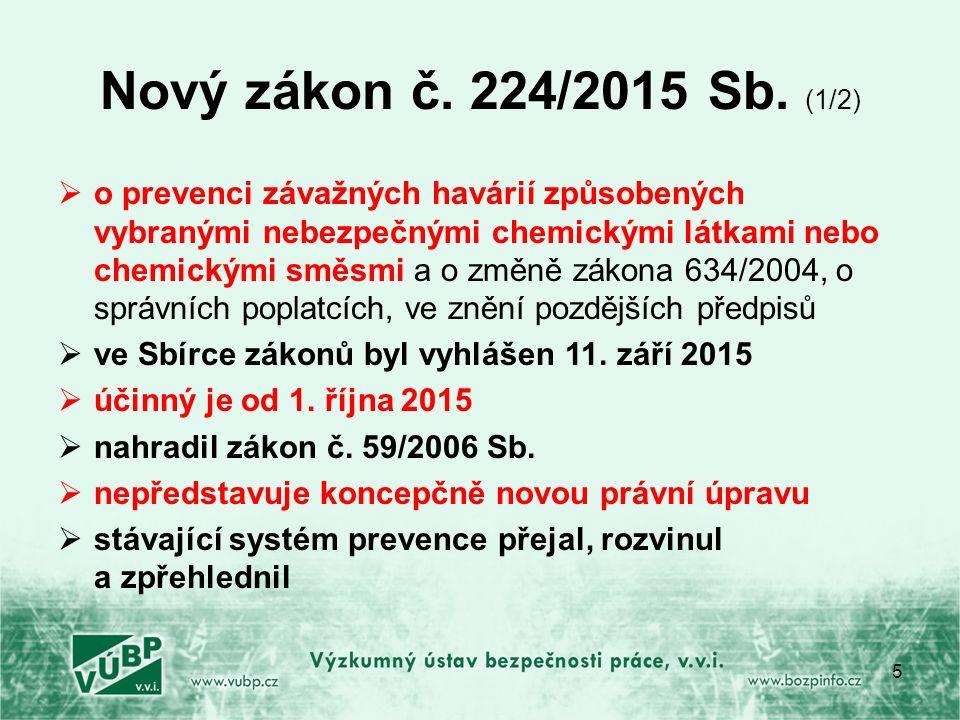 Nový zákon č. 224/2015 Sb.