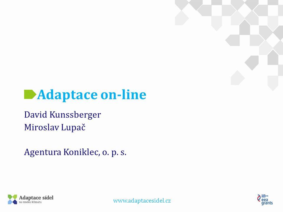 www.adaptacesidel.cz Adaptace on-line David Kunssberger Miroslav Lupač Agentura Koniklec, o. p. s.