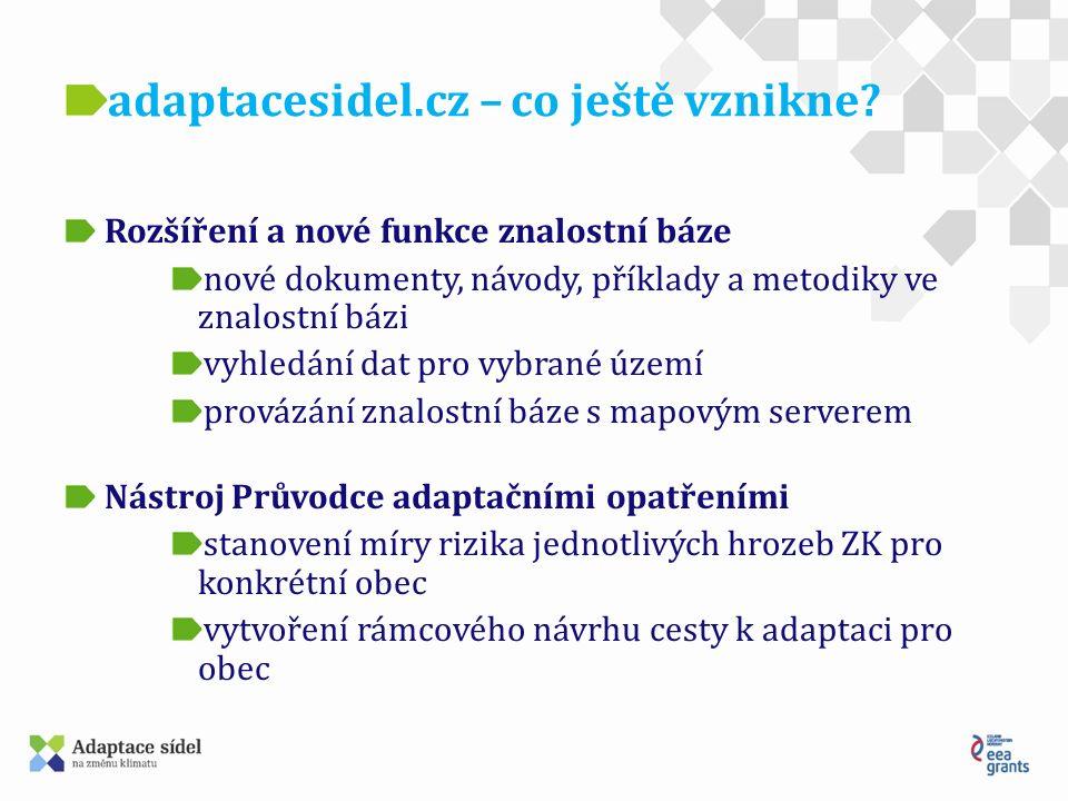 www.adaptacesidel.cz Děkujeme za pozornost David Kunssberger (e-mail: david@koniklec.cz)david@koniklec.cz Miroslav Lupač (e-mail: mirek@koniklec.cz)mirek@koniklec.cz