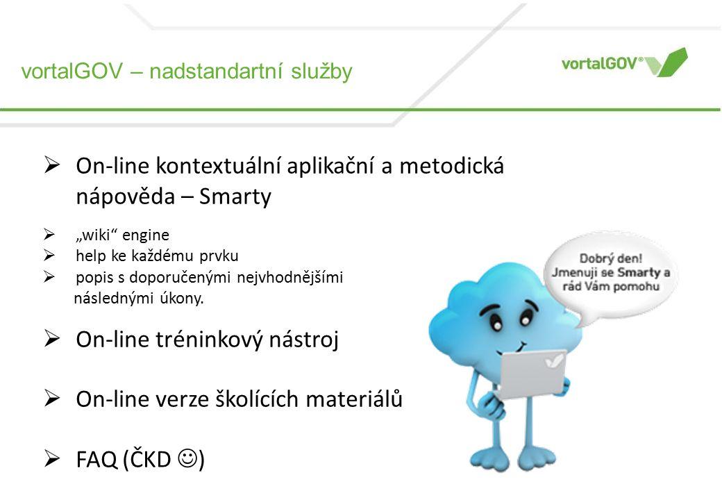 """ On-line kontextuální aplikační a metodická nápověda – Smarty  """"wiki engine  help ke každému prvku  popis s doporučenými nejvhodnějšími následnými úkony."""