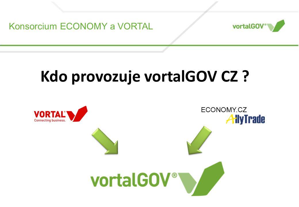 Konsorcium ECONOMY a VORTAL © Vortal 2011 – All rights reserved Kdo provozuje vortalGOV CZ .