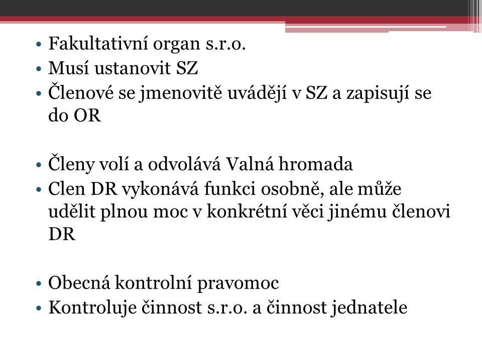Fakultativní organ s.r.o.